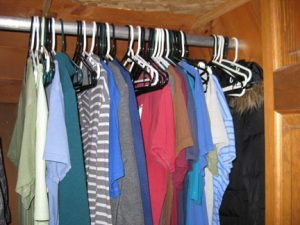 The closets not empty yet...but it's getting close!