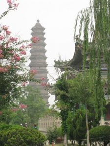 The Iron Pagoda, touted as the finest pagoda in all of China.
