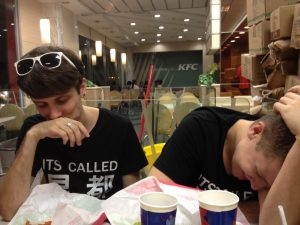 Even at 1am at KFC we couldn&#039;t stop laughing.