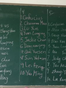 The second classes list.