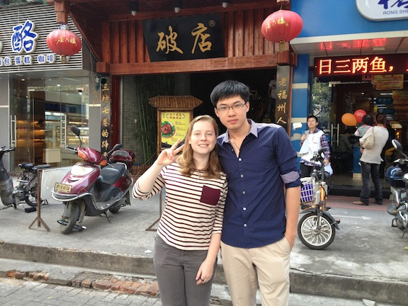 Color and I in Fuzhou. We no longer live near each other but we manage to see each other 3-4 times a year.