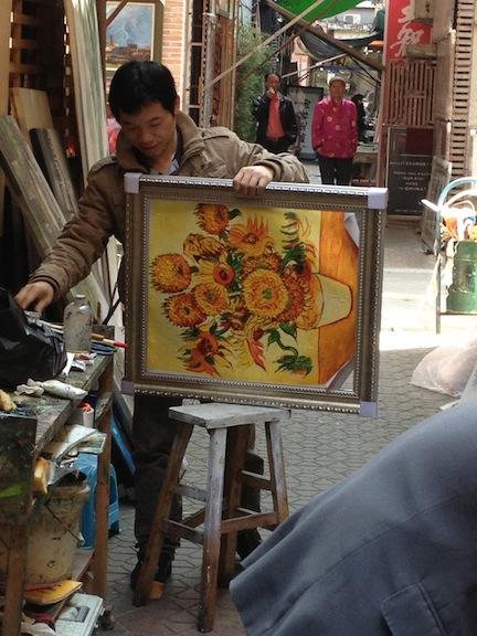 Da Fen Oil Painting Village Picasso