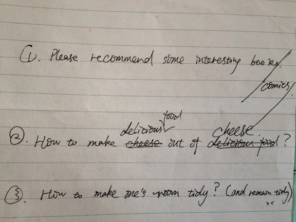 """""""How to make delicious food out of cheese?"""" I like the thinking of this students!"""