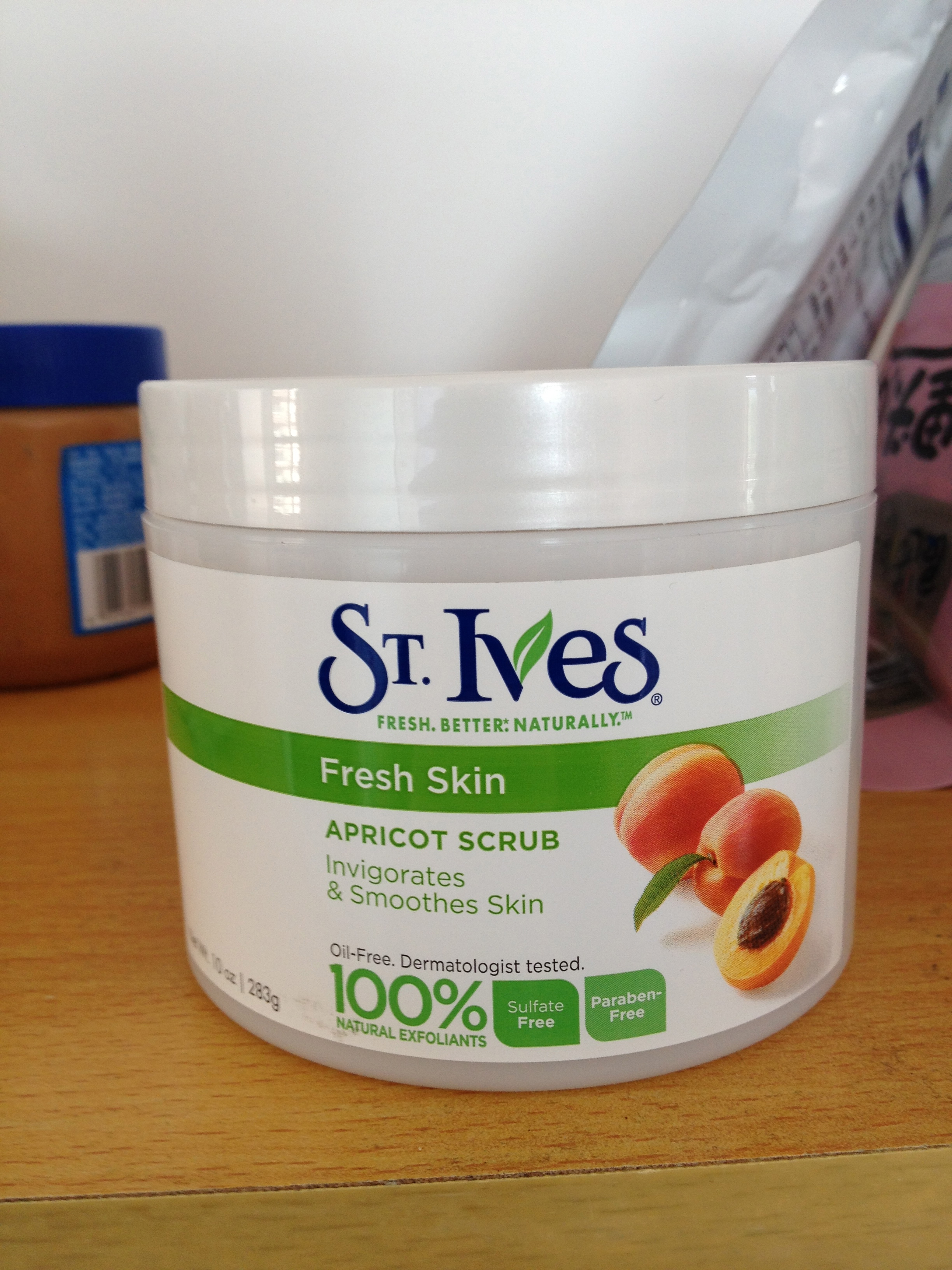 The most epic container of St. Ives Scrub that took me weeks to order.