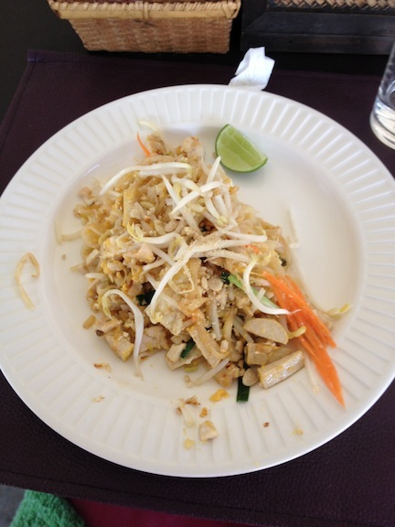 My own pad thai I made with my own hands. It tasted just like the stalls on the street so I was quite proud.
