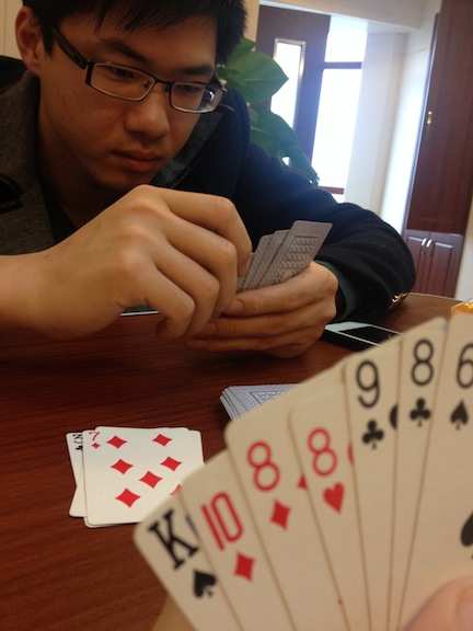 During our downtime we played some rummy.