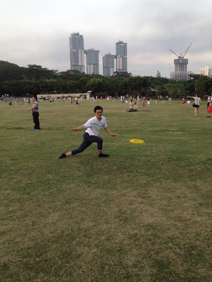 Not just life in Xiamen is active, but even when I travel I now end up doing some sports (like frisbee in the park during a recent weekend trip to Shenzhen.)